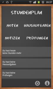 School Helper - Startbildschirm