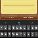 Ice Cream Sandwich Keyboard - Sonderzeichen 1