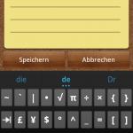 Ice Cream Sandwich Keyboard - Sonderzeichen 2