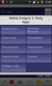 Tasker listet die möglichen 3rd-Party-Apps auf, die als Ereignis genutzt werden können